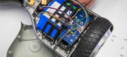 Фотография разобранного гироскутера